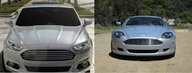 The 2013 Ford Fusion or Aston Martin?